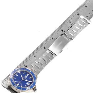 Tag Heuer Aquaracer Calibre 5 500M Blue Dial Steel Mens Watch WAK2111
