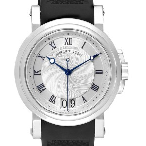 Breguet Marine Big Date Silver Dial Automatic Steel Mens Watch 5817ST