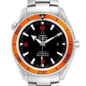 Omega Seamaster Planet Ocean XL Orange Bezel Mens Watch 2208.50.00