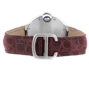 Cartier Ballon Bleu 33 Diamond Steel Ladies Watch W4BB0009