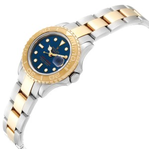 Rolex Yachtmaster Steel Yellow Gold Ladies Watch 69623 Box Papers