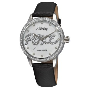 Stuhrling Lady Peace 519P.1115 Stainless Steel & Leather 38mm Watch