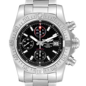 Breitling Aeromarine Super Avenger Black Dial Watch A13381 Card