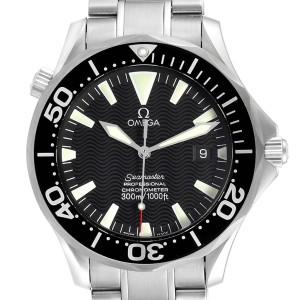 Omega Seamaster 41mm Black Wave Dial Steel Mens Watch 2254.50.00