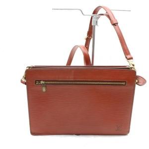 Louis Vuitton Enghien 2way 868552 Brown Leather Shoulder Bag