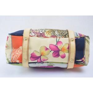 Salvatore Ferragamo Floral Shopper 868769 Multicolor Nylon Tote