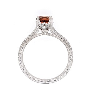 Jack Kelege KGR 1035 18k White Gold Citrine, Diamonds Ring