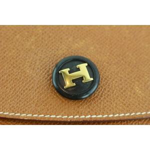 Hermès Pochette Rio Envelope 7hz1128 Brown Leather Clutch