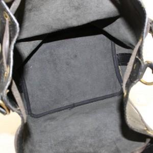 LOUIS VUITTON Black Epi Noir Petit Noe Drawsting Bucket Hobo 868924