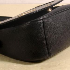 MCM Studded Flap 869172 Black Leather Shoulder Bag