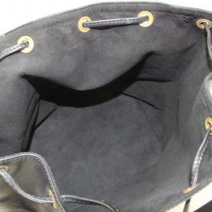 Louis Vuitton Bucket Noir Petit Noe Drawstring Hobo 869226 Black Leather Shoulder Bag