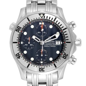 Omega Seamaster Blue Dial Chronograph Mens Watch 2598.80.00