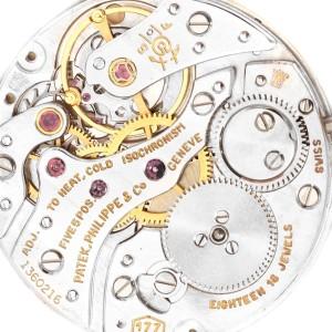 Patek Philippe Yellow Gold Black Dial Vintage Mens Watch 3633