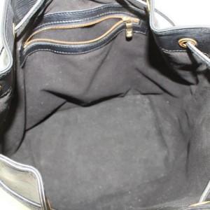 Louis Vuitton Bucket Noir Petit Noe Drawstring Hobo 869471 Black Leather Shoulder Bag