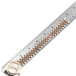 Rolex Datejust 31 Midsize Steel Everose Gold Diamond Ladies Watch 178341