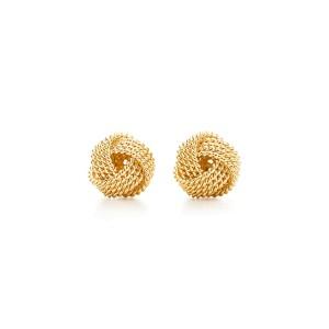 Tiffany Co 18k Yellow Gold Twist Knot Earrings