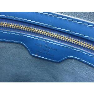 Louis Vuitton Lussac Epi Zip Tote 233517 Blue Leather Shoulder Bag