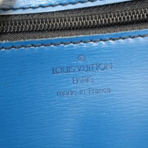 Louis Vuitton Iena Poche Epi Fold Over 869841 Blue Leather Clutch