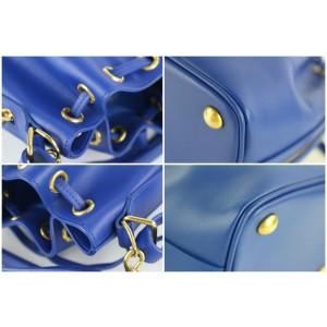 Saint Laurent Blue Classic Small Emmanuelle Bucket 2way 1MZ0130
