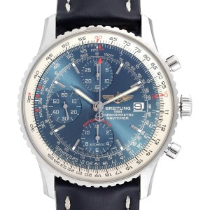 Breitling Navitimer Heritage Blue Dial Mens Watch A13324 Box Papers