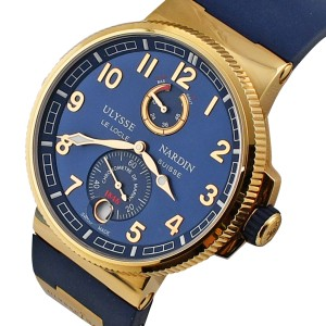 Ulysse Nardin 1186-126-3/63 Marine Chronometer Manufacture 43mm Mens Watch
