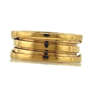"Bulgari "" B.zero1"" 18k Rose Gold Ring Size 7.75"