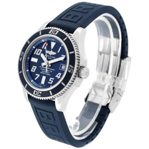 Breitling Superocean Blue Dial Limited Edition Watch A17364 Box Papers