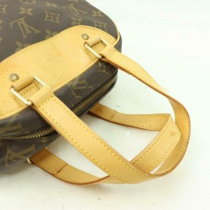 Louis Vuitton Excursion Monogram Sac Travel and Shoe Carrier 870438 Brown Coated Canvas Satchel
