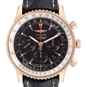 Breitling Navitimer Rose Gold Limited Edition Watch RB0127E6 Box Papers