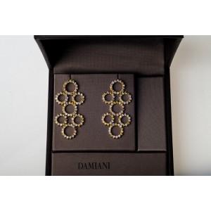 Damiani 18k Rose, Yellow & White Gold & Diamonds Earrings
