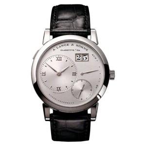 A. Lange And Sohne Lange 1 Platinum Crocodile Leather Mens Watch