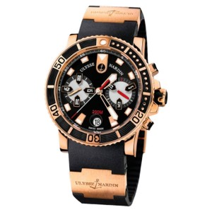 2e1b4e5bf6c60 Ulysse Nardin Maxi Marine Diver Chronograph 18k Rose Gold Men s Watch