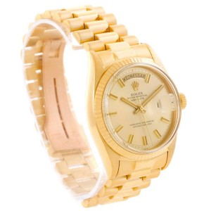 Rolex President Day-Date 1803 Wide Boy Dial 18K Yellow Gold Mens Watch