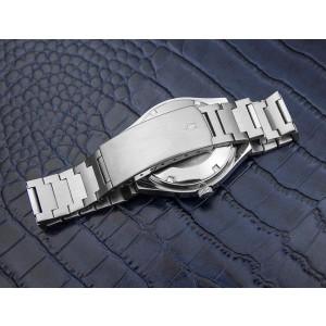 Bulova Day Date Jumbo Automatic Stainless Steel Swiss Mens Watch 1970s