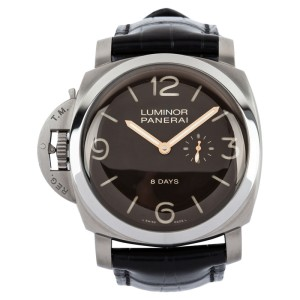 Panerai Luminor 1950 Left-Handed 8 Days Titanio Titanium & Leather 47mm Watch