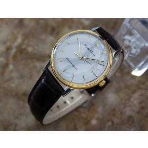 Seiko Crown Stainless Steel Manual Vintage 35mm Mens Watch Year 1960