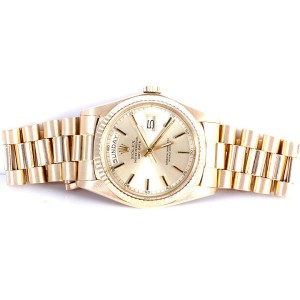 Rolex Day-Date President 1803 18K Yellow Gold Champagne Dial 36mm Unisex Watch