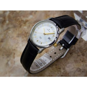 Junghans Y133 Titanium Quartz Vintage 29mm Womens Watch