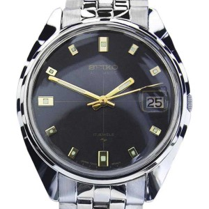 Seiko 7005 Stainless Steel Automatic Vintage 34mm Mens Watch 1970s