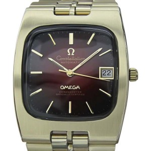 Omega Constellation Gold Plated Stainless Steel Automatic 33mm Mens Watch 1970s