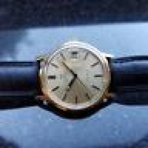 Omega Geneve 1012 Gold Plated Stainless Steel Automatic 35mm Mens Watch 1970s