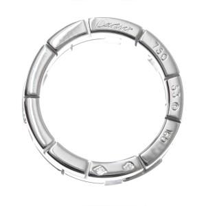 Cartier Dragon Padlock 18K White Gold Ring Size 7
