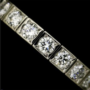 Cartier Lanieres 18K White Gold with Diamond Ring Size 5
