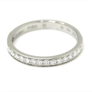 Cartier Pt950 Platinum with 0.27ct Half Diamond Ring Size 6
