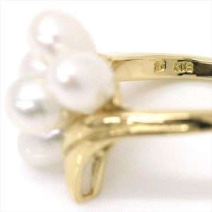Mikimoto 18K Yellow Gold and Freshwater Cultured Pearl Ring