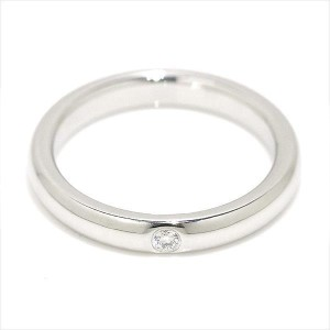 Tiffany & Co. 950 Platinum with 0.02ct Diamond Ring