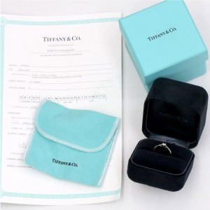 Tiffany & Co. 950 Platinum with 0.22ct Diamond Harmony Ring Size 5.5