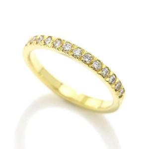 Tiffany & Co. 18K Yellow Gold Novo Half Diamond Ring