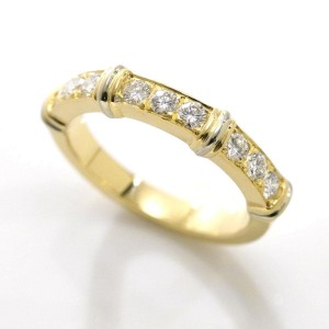 Cartier Contessa 18K Yellow Gold with Diamond Ring Size 4.5