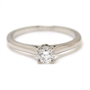 Cartier 950 Platinum with 0.25ct Diamond Solitaire Ring Size 4.5